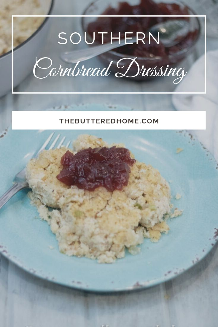 Southern Cornbread Dressing is a must during the holidays. But it is easy enough to have anytime. A traditional southern recipe that until now has been intimidating. We show you how easy and delicious it is. Savory notes of onion, sage and celery will satisfy any preference and help win folks over from the stuffing team. #southerncornbreaddressing #dressing #cornbread