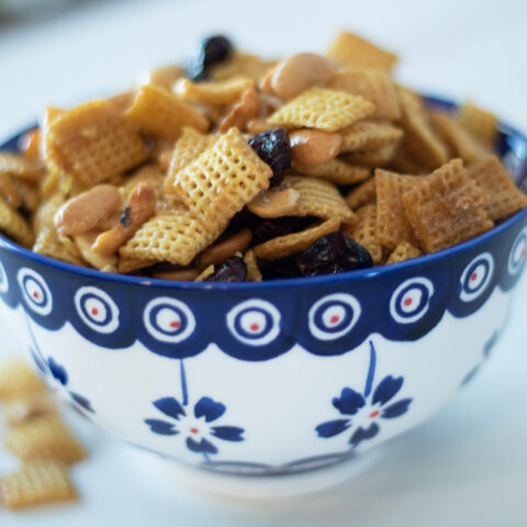 Orange Snack Mix with Dried Cranberries